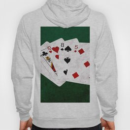 Poker Hand High Card Ace Queen Ten Eight Five Hoody