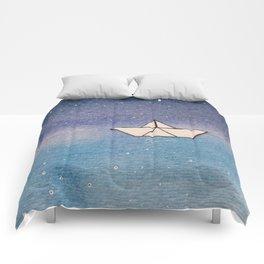 P'tit bateau de papier / Little paper boat Comforters