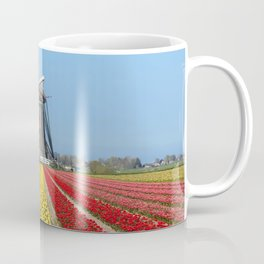 Windmill Overseeing Tulips Coffee Mug
