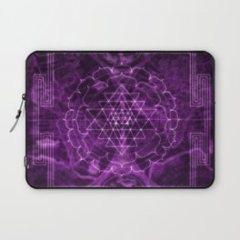 Mandala Purple Magic Spiritual Zen Bohemian Hippie Yoga Mantra Meditation Laptop Sleeve