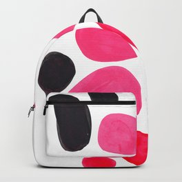 Abstract Minimalist Mid Century Modern Colorful Pop Art Pink Pastel Pebble Bubbles Backpack
