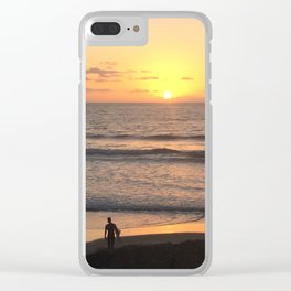 The Last Surf Clear iPhone Case