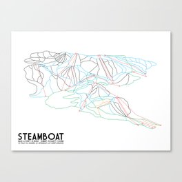 Steamboat, CO - Minimalist Trail Maps Canvas Print