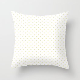 Dots (Vanilla/White) Throw Pillow