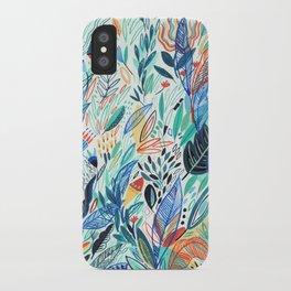 Jungle Leaves iPhone Case