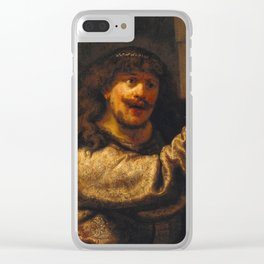 Samson Threatening His Father-in-Law Clear iPhone Case