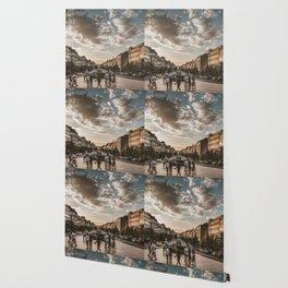 Wenceslas Square in Prague (Czech Republic) Wallpaper