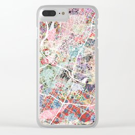 Austin map - Portrait Clear iPhone Case