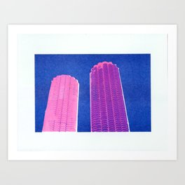 Pink Marina Art Print