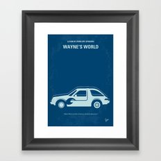 No211 My Waynes World minimal movie poster Framed Art Print