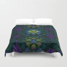 Variations on A Feather IV - Stars Aligned (Primeval Edition) Duvet Cover