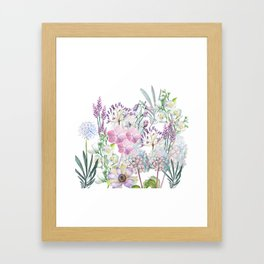 Spring Flowers Bouquet Framed Art Print