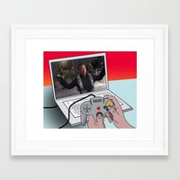 game Framed Art Prints featuring  game by mark ashkenazi