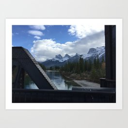 The Three Sisters, Canmore, Canada  Art Print