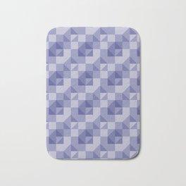 Slate Blue Geometric Bath Mat