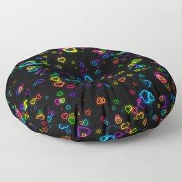 Neon Love Heart Floor Pillow