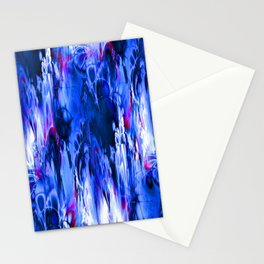 Marshmellow Skies (midnight blue) Stationery Cards