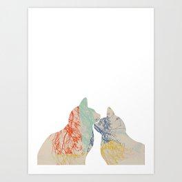 Close friends Art Print