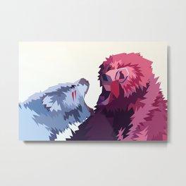 Bear Fight Metal Print