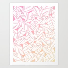 Leaves in Sunset Art Print