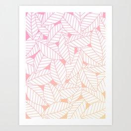Leaves in Sunset Art Print