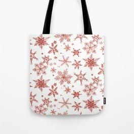 Snow Flakes 02 Tote Bag