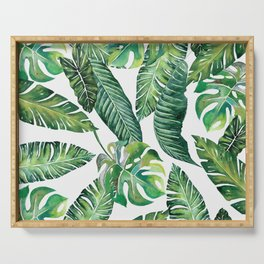 Jungle Leaves, Banana, Monstera #society6 Serving Tray