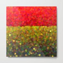 Sparkle Glitter Red Gold Metal Print