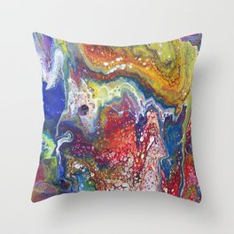 Rainbow Galaxy Abstract Throw Pillow