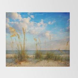 Sea Oats along the Beach Throw Blanket