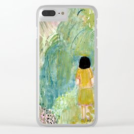 Visiting the botanical gardens Clear iPhone Case
