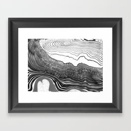suminagashi Framed Art Print