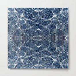 Glittering blue ripples of water Metal Print
