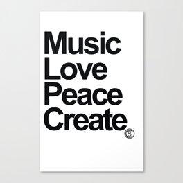 MLPC White Canvas Print