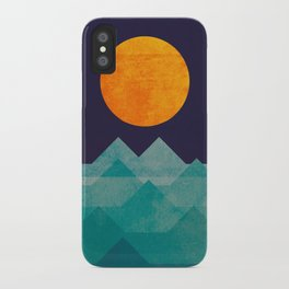 The ocean, the sea, the wave - night scene iPhone Case