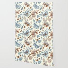 Winter floral Wallpaper