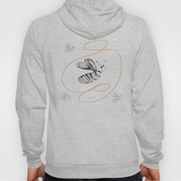 Crazy Bee drawing illustration for kds Hoody