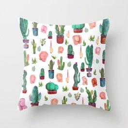 Cactus and butts Throw Pillow