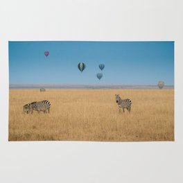 Zebras and baloons Rug