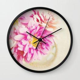 Sweet Peonies Wall Clock