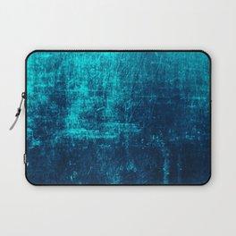 Denim & Turq Distressed Concrete Texture Laptop Sleeve
