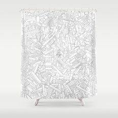 The Lego Movie —Colouring Book Version Shower Curtain