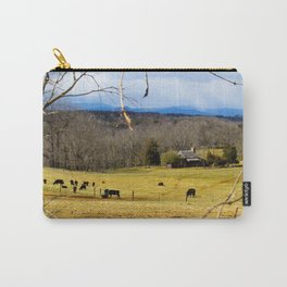 Cattle ranch overlooking the Blue Ridge Mountains Carry-All Pouch