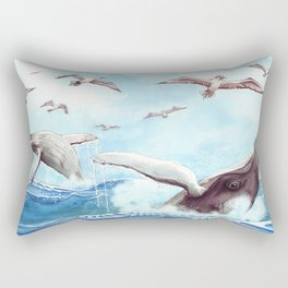 Humpback Whales Surface Rectangular Pillow