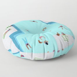 Crisp cut swim Floor Pillow