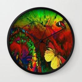 Dance of the Butterflies Wall Clock