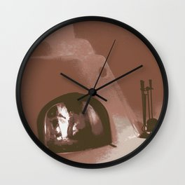 Side Kiva Red Wall Clock
