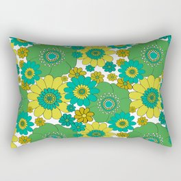 Flower bunch turquoise Rectangular Pillow