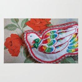 vintage dove beadwork Rug