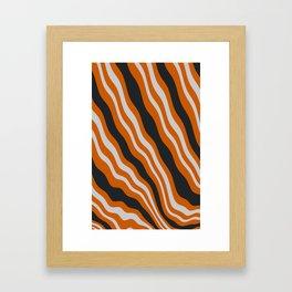 Melting Bacon Framed Art Print